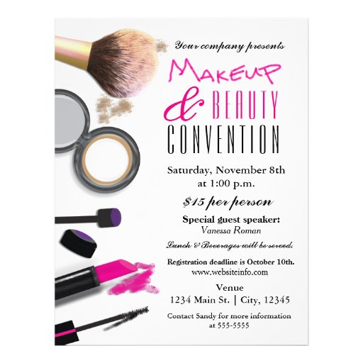 Makeup & Beauty Chic Glam Event Flyer Poster | Zazzle