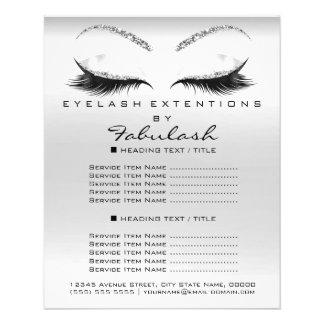 Makeup  Beauty Glitter Flyer Silver Gray Lashes