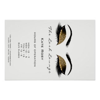 Makeup Beauty Salon Browns Chocolate Opening Hours Poster