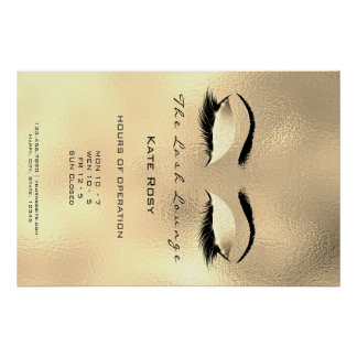 Makeup Beauty Salon Browns Gold Opening Hours Poster