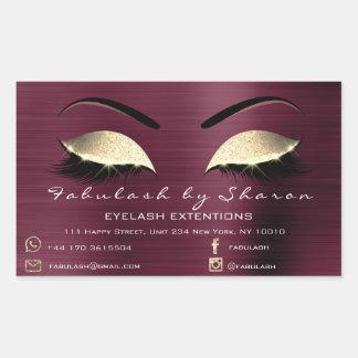 Makeup Beauty Salon Burgundy Adress Contact Sticker