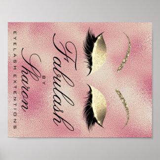 Makeup Beauty Salon Name Gold Glitter Sharon Rose Poster