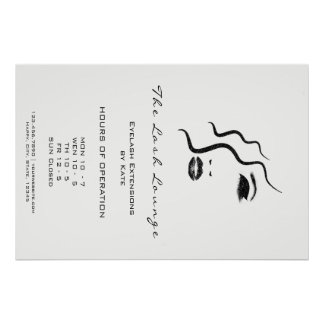 Makeup Beauty Salon Name Logo Glam Adress Opening1 Poster