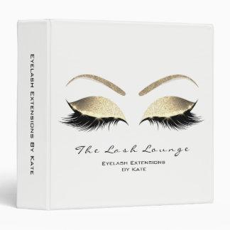 Makeup Beauty Salon Name White Gold Black Eyebrows Vinyl Binders