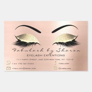 Makeup Beauty Salon Powder Rose Adress Contact Sticker