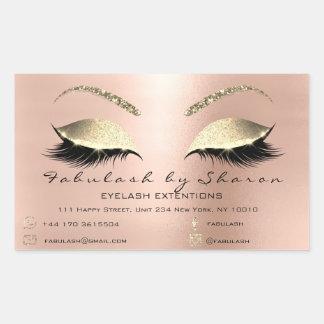 Makeup Beauty Salon Rose Skinny Adress Luxury Sticker