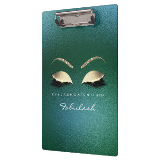 Makeup Beauty Studio Lashes Cali Green Luxury Clipboard