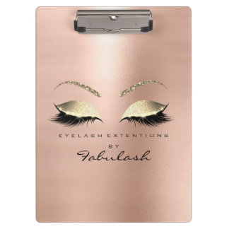 Makeup Beauty Studio Lashes Rose Gold Luxury Clipboard