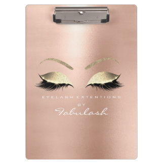 Makeup Beauty Studio Lashes Rose Gold Pink Clipboard