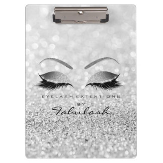 Makeup Beauty Studio Lashes Silver Gray Silver Clipboard