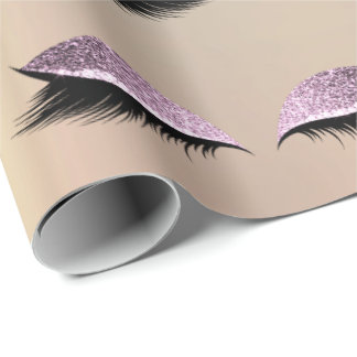 Makeup Blush Eyes Beauty Copper Blush Skin Lashes Wrapping Paper