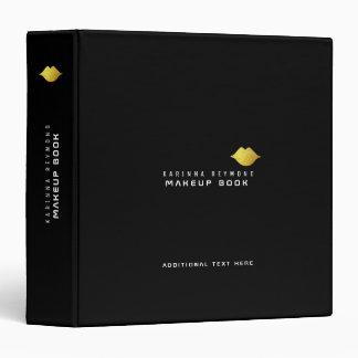 makeup-book with gold lips / makeup 3 ring binder