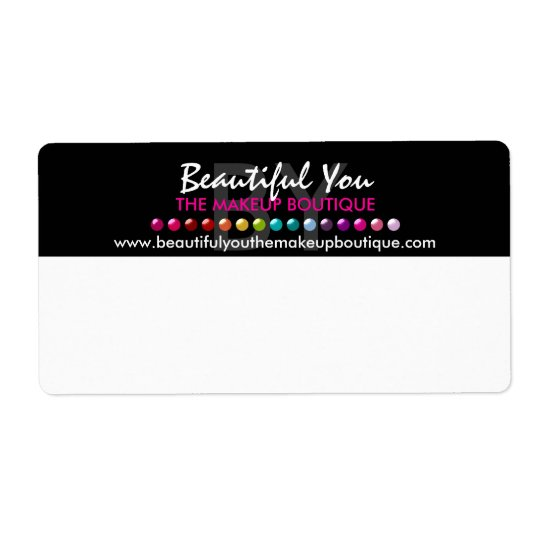 Makeup Boutique Custom Shipping Labels
