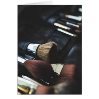 Makeup Brushes - Beauty Print Card
