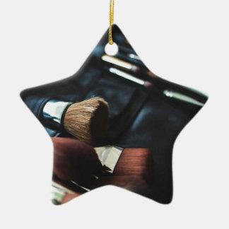 Makeup Brushes - Beauty Print Ceramic Star Ornament
