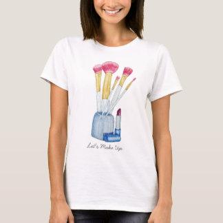 makeup brushes in holder still life art design T-Shirt
