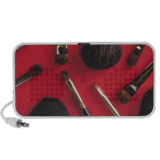 Makeup brushes iPhone speakers