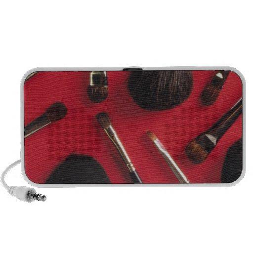 Makeup brushes iPhone speakers