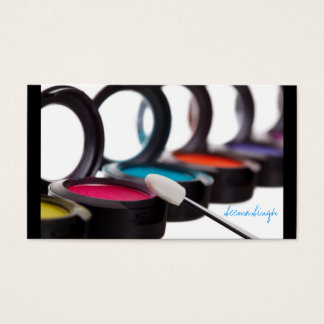 Makeup Cosmetic Artist Eyeshadows Business Card