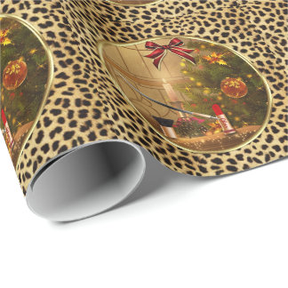 Makeup Cosmetics Christmas Wrapping Paper