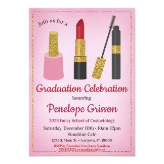 Makeup Cosmetics Graduation Invitation Beauty