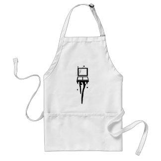 makeup drip grunge graf standard apron