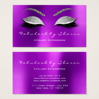 Makeup Eyebrow Lashes Glitter Crystal Lavade Gra Business Card