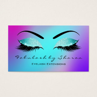 Makeup Eyebrow Lashes Glitter Skinny Tiffany Pink Business Card
