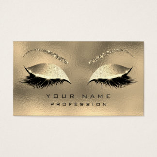 Makeup Eyebrows Lashes Glitter Diamond Sparkly Business Card