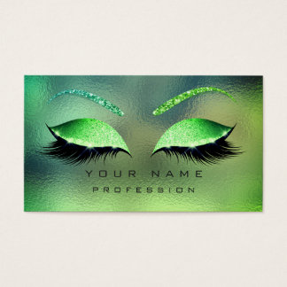Makeup Eyes Lashes Glitter Tropical Glass Eyebrow Business Card