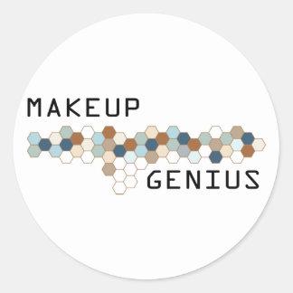 Makeup Genius Round Sticker