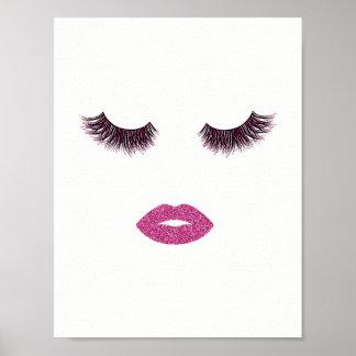 Makeup glitter effect poster