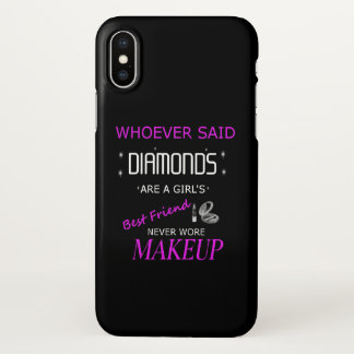 Makeup Is My BFF iPhone X Cell Phone Case