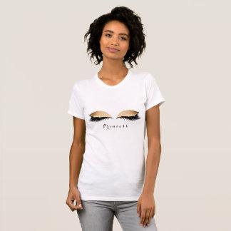 Makeup Lashes Black Golden Beauty Name Princess T-Shirt