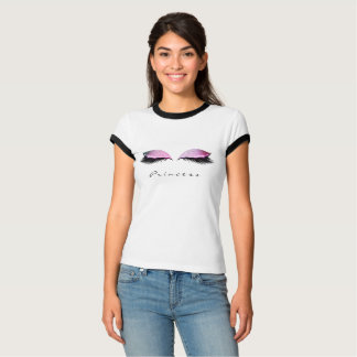 Makeup Lashes Black Pink Rose Name Princess T-Shirt