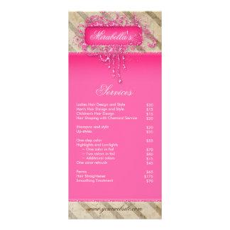 Makeup Nail Salon Vintage Stripes Glitter Grunge P Customized Rack Card
