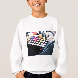 Makeup Palette and Brushes - Beauty Print Sweatshirt