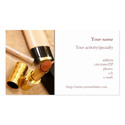 """""""Makeup products"""" business card"""