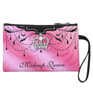 Makeup Queen Crown Princess Tiara Purse Pink
