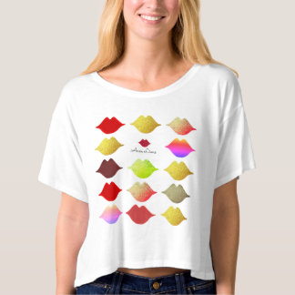 makeup salon colorful lips . color mouths t-shirt