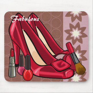 Makeup & Shoes Mousepad