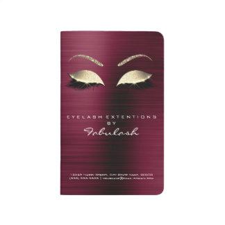Makeup Stylist Branding Beauty Salon Burgundy Gold Journal
