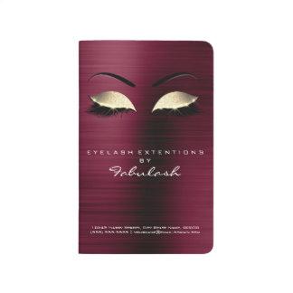 Makeup Stylist Branding Beauty Salon Glitter Gold Journals