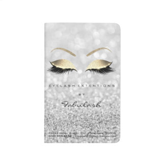 Makeup Stylist Branding Beauty Salon Gray Gold Journal