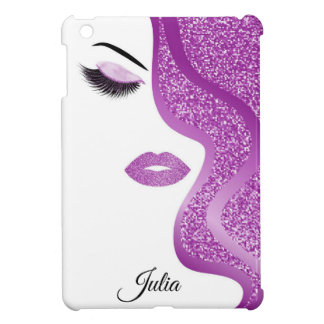 Makeup with glitter effect iPad mini cases