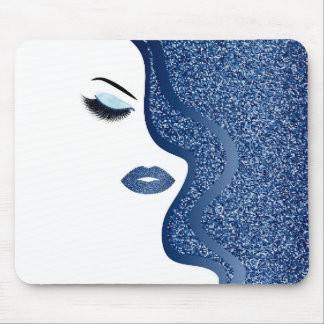 Makeup with glitter effect mouse pad