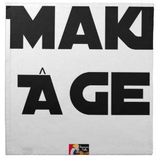 MAKI AGE - Word games - François City Napkin