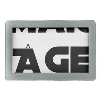 MAKI AGE - Word games - François City Rectangular Belt Buckle