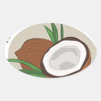 Makin Me Coconuts Oval Sticker