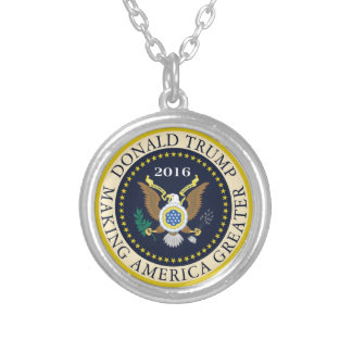 Making America Greater Silver Plated Necklace